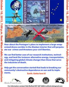 Drone Meeting flier, 10 Oct 2013