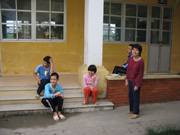 Break from classes at Friendship Village