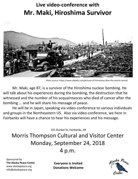 9-24-18 Mr Maki_Hiroshima Suvivor